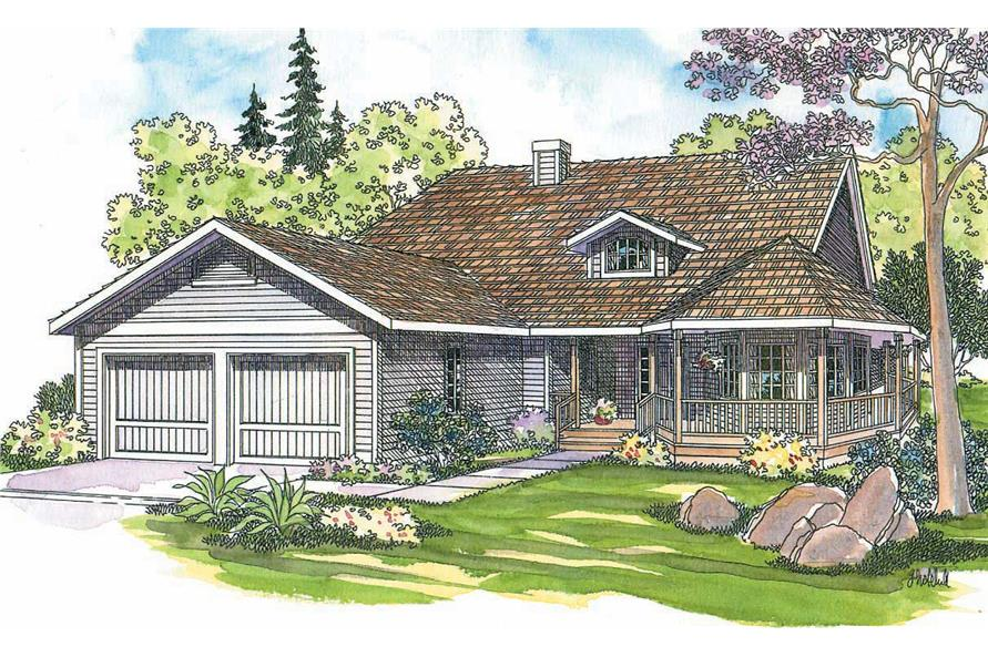 3-Bedroom, 2145 Sq Ft Country Home Plan - 108-1274 - Main Exterior