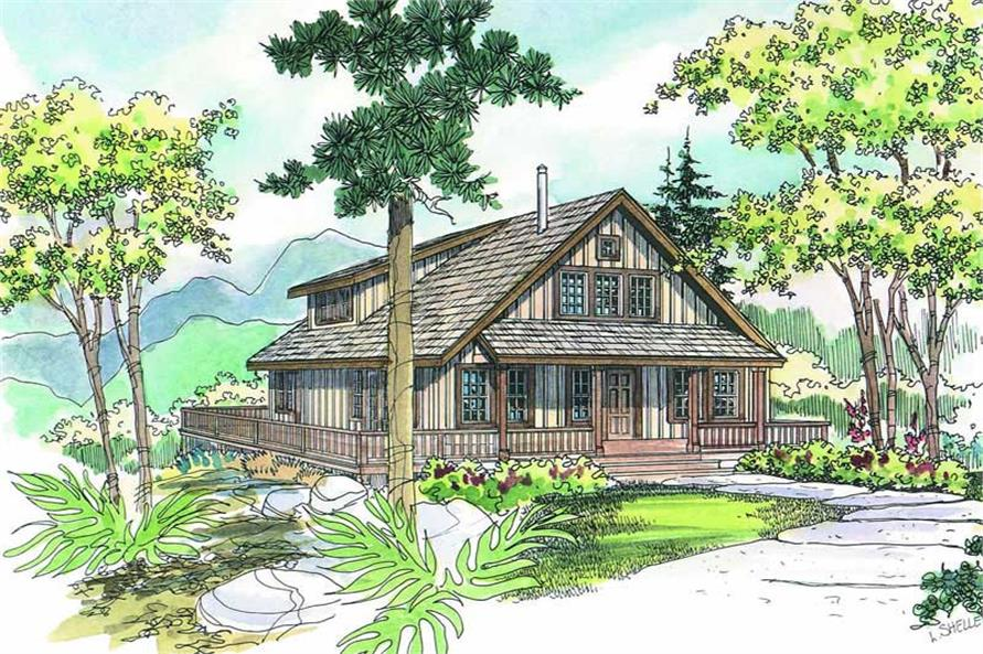 3-Bedroom, 1749 Sq Ft Craftsman Home Plan - 108-1275 - Main Exterior