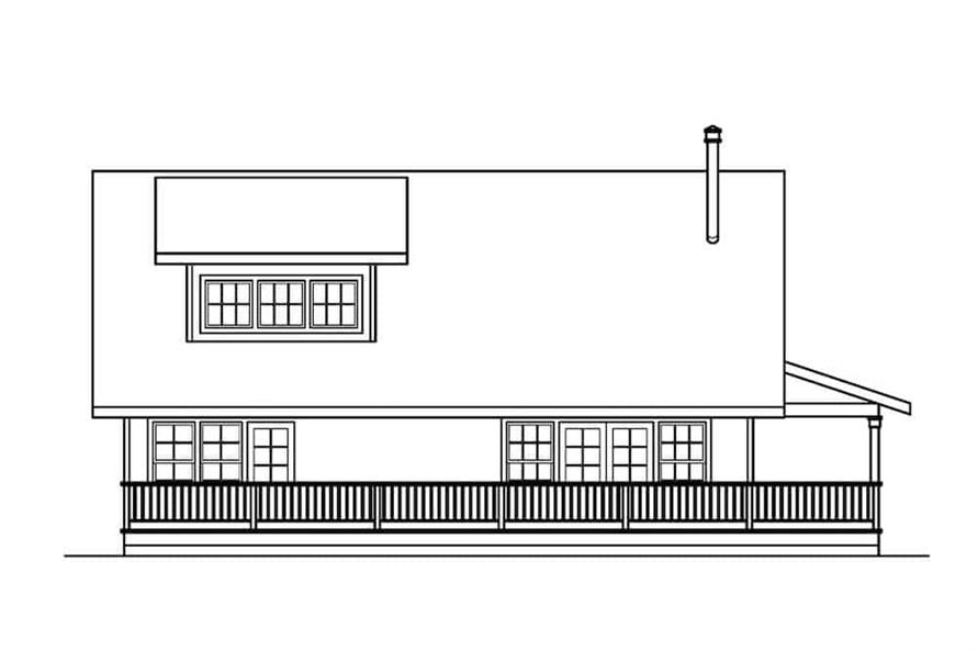 Home Plan Left Elevation of this 3-Bedroom,1749 Sq Ft Plan -108-1275