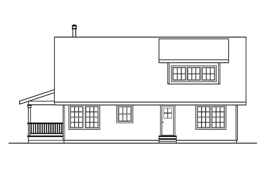 Home Plan Right Elevation of this 3-Bedroom,1749 Sq Ft Plan -108-1275