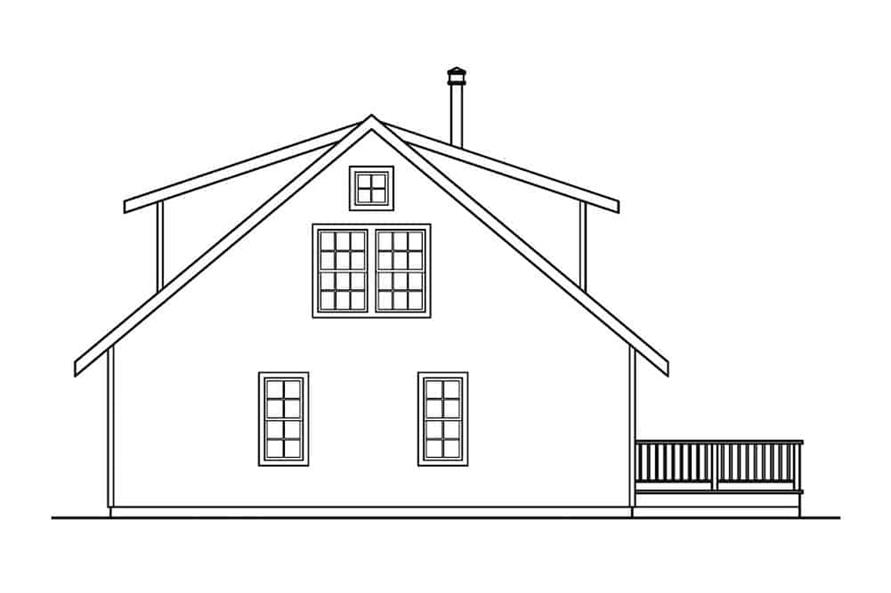Home Plan Rear Elevation of this 3-Bedroom,1749 Sq Ft Plan -108-1275