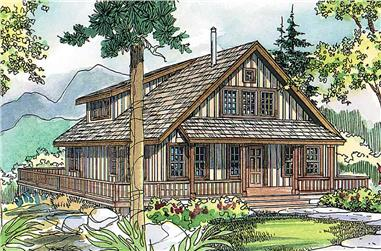 3-Bedroom, 1749 Sq Ft Rustic House - Plan #108-1275 - Front Exterior