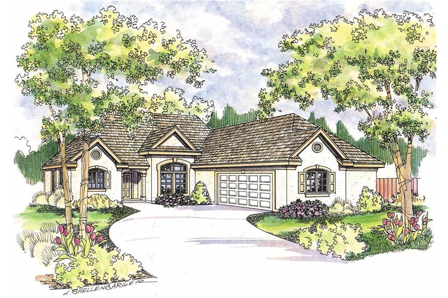 3-Bedroom, 1605 Sq Ft European Home Plan - 108-1276 - Main Exterior