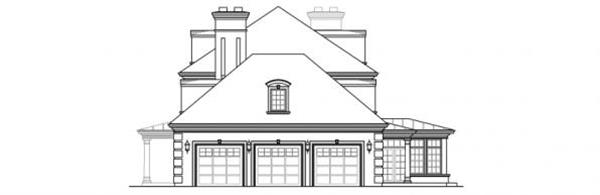 108-1277 house plan right elevation