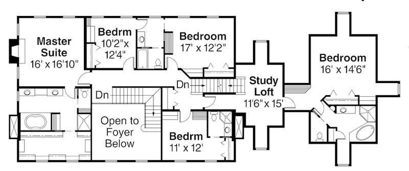 Second Floor Floor Plan for ADI30-313 Edgewood