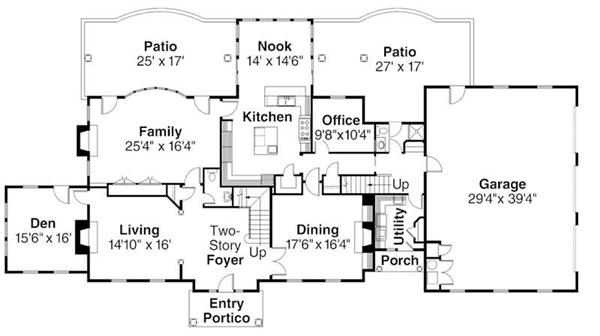 First Floor Floor Plan for ADI30-313 Edgewood