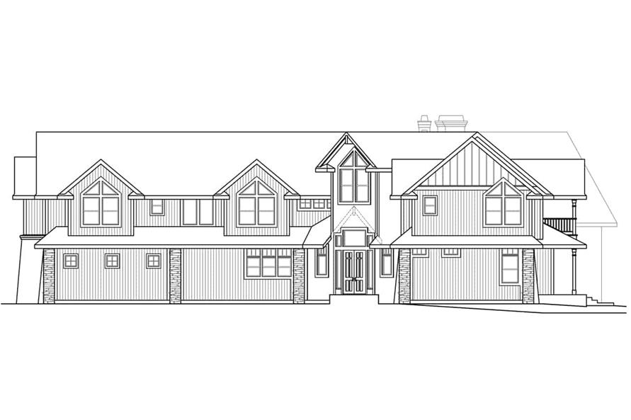 Home Plan Right Elevation of this 4-Bedroom,5651 Sq Ft Plan -108-1278