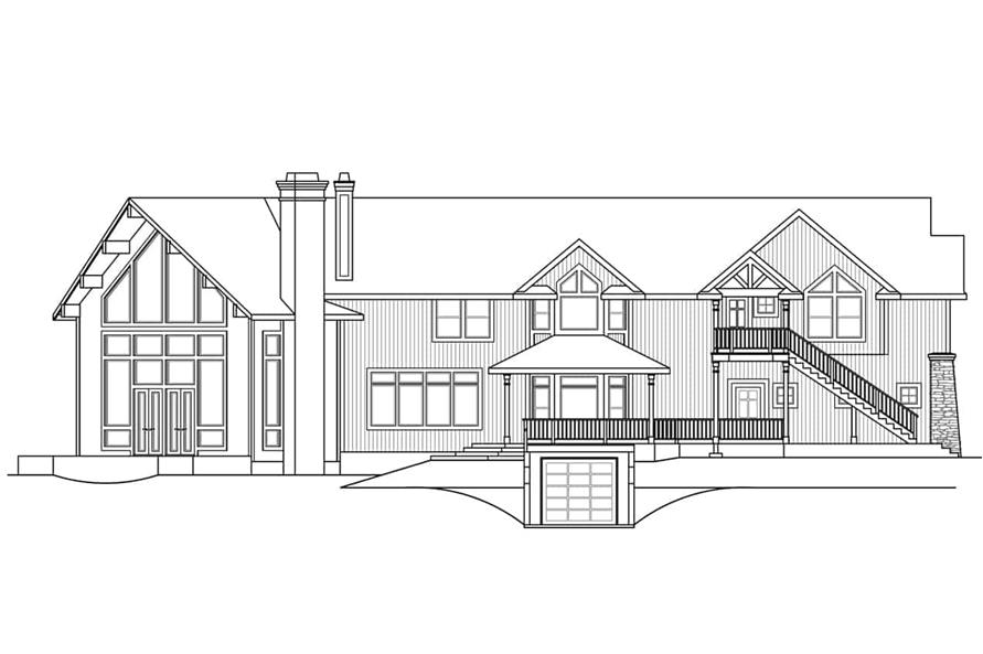 Home Plan Left Elevation of this 4-Bedroom,5651 Sq Ft Plan -108-1278