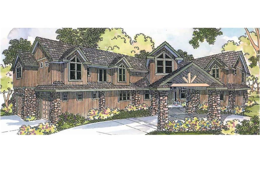Rustic luxury home (ThePlanCollection: Plan #108-1278)