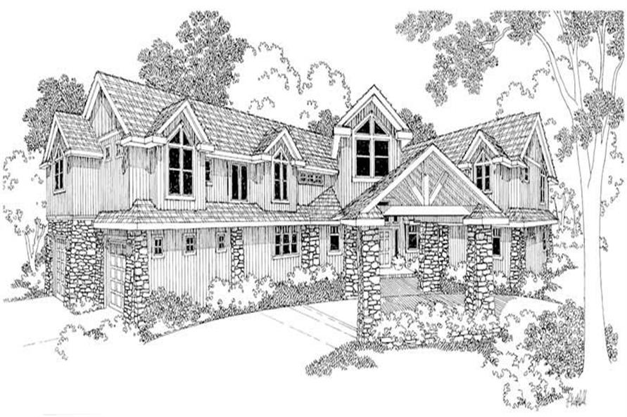 Bentonville Main Elevation of this 4-Bedroom,5651 Sq Ft Plan -5651