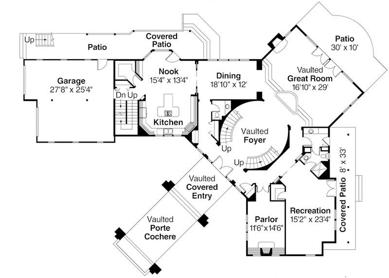 First Floor Floor Plan for Bentonville