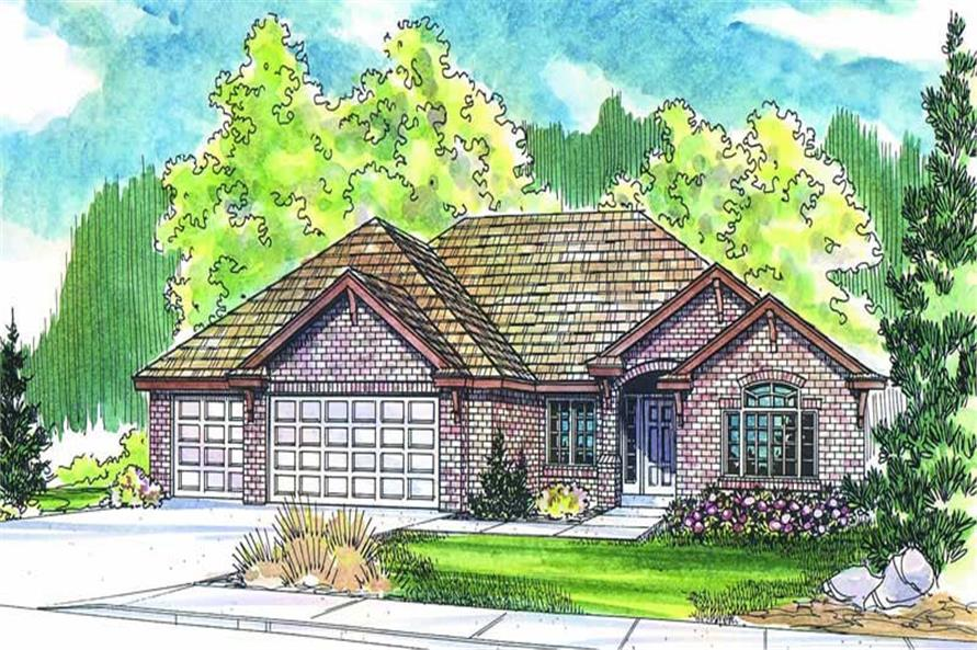 4-Bedroom, 2561 Sq Ft Ranch Home Plan - 108-1279 - Main Exterior