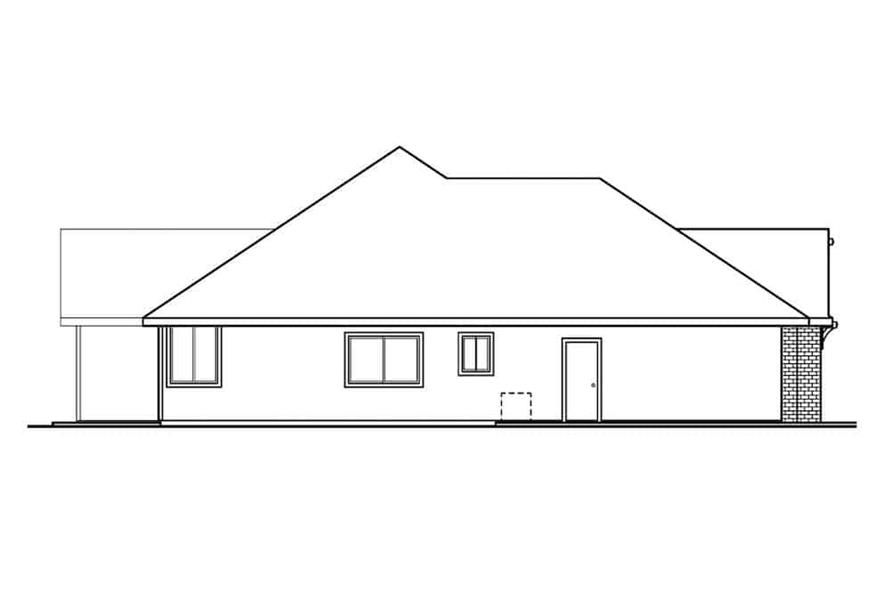 Home Plan Left Elevation of this 3-Bedroom,2561 Sq Ft Plan -108-1279