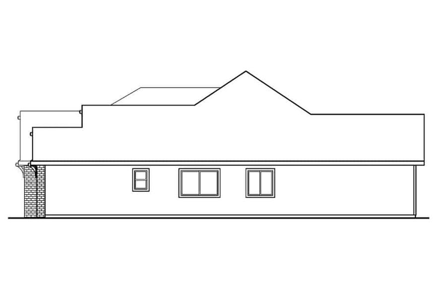 Home Plan Right Elevation of this 3-Bedroom,2561 Sq Ft Plan -108-1279