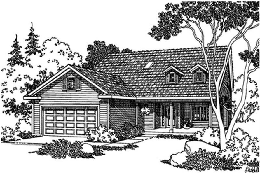 3-Bedroom, 1902 Sq Ft Country Home Plan - 108-1281 - Main Exterior