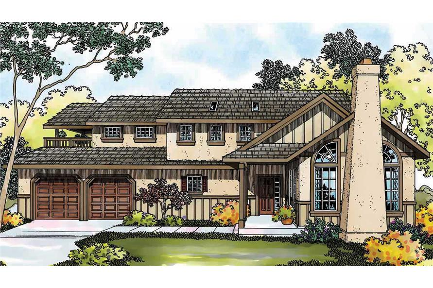 3-Bedroom, 2152 Sq Ft Contemporary Home Plan - 108-1283 - Main Exterior