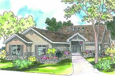 3-Bedroom, 2673 Sq Ft Contemporary Home Plan - 108-1284 - Main Exterior