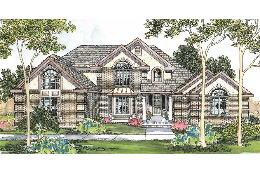 3-Bedroom, 3541 Sq Ft Contemporary Home Plan - 108-1286 - Main Exterior