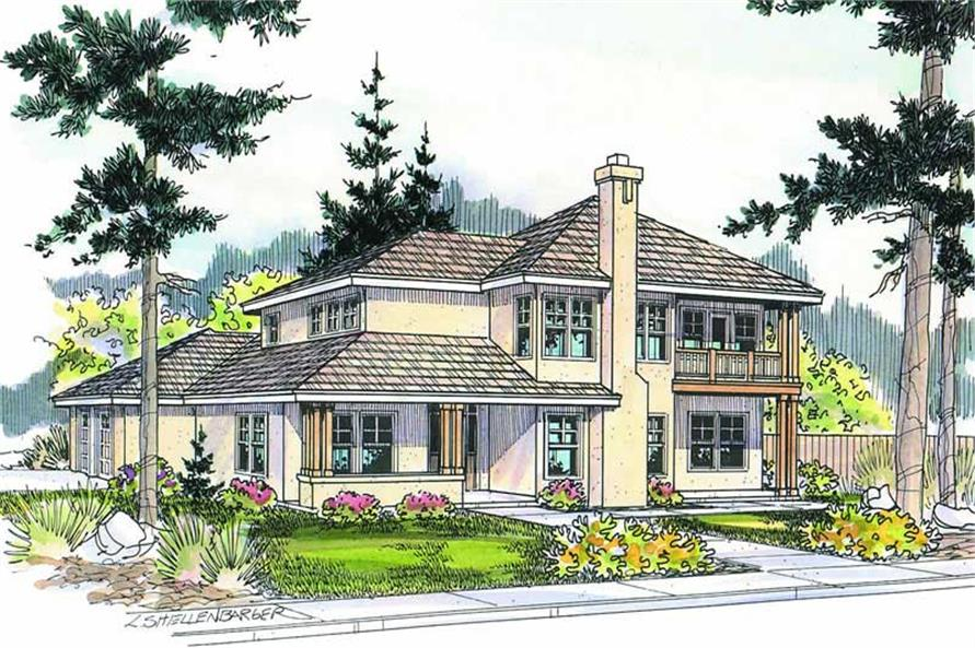 4-Bedroom, 2602 Sq Ft Contemporary Home Plan - 108-1287 - Main Exterior