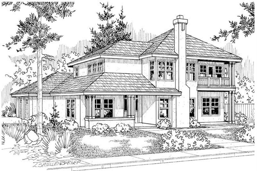 Home Plan Other Image of this 4-Bedroom,2602 Sq Ft Plan -108-1287