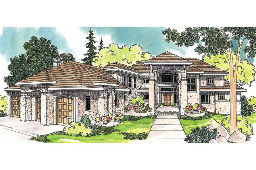 4-Bedroom, 4284 Sq Ft Florida Style Home Plan - 108-1288 - Main Exterior