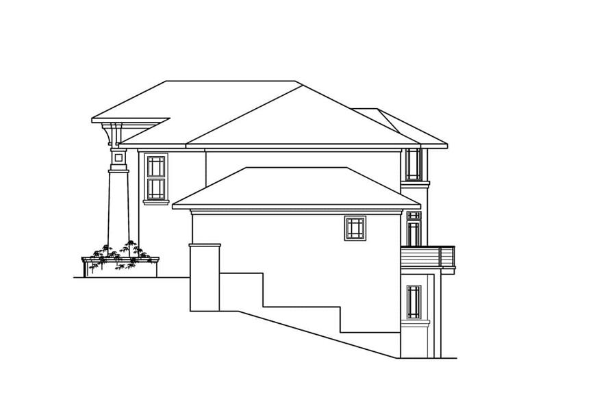 Home Plan Right Elevation of this 4-Bedroom,4285 Sq Ft Plan -108-1288