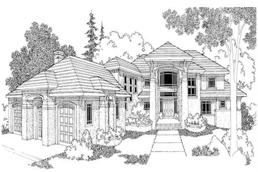 Home Plan Rendering of this 4-Bedroom,4284 Sq Ft Plan -108-1288