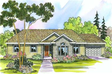 4-Bedroom, 2086 Sq Ft Home Plan - 108-1290 - Main Exterior