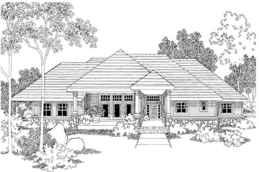 3-Bedroom, 2614 Sq Ft Home Plan - 108-1291 - Main Exterior