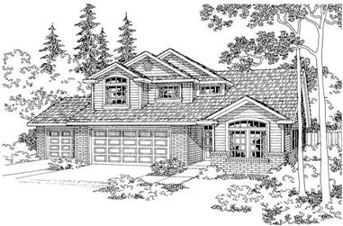 3-Bedroom, 2365 Sq Ft Traditional Home Plan - 108-1292 - Main Exterior