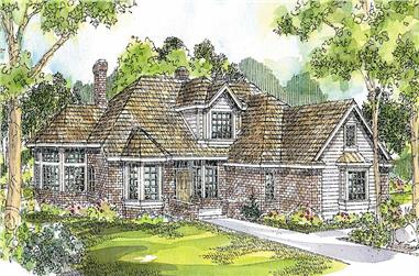 4-Bedroom, 2708 Sq Ft Contemporary Home Plan - 108-1293 - Main Exterior
