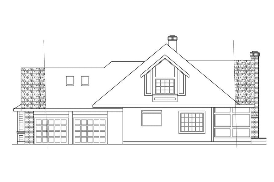 Home Plan Right Elevation of this 4-Bedroom,2708 Sq Ft Plan -108-1293
