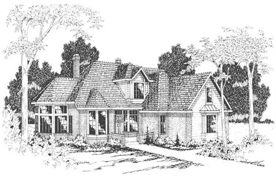 Home Plan Rendering of this 4-Bedroom,2708 Sq Ft Plan -108-1293