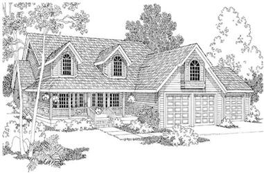 3-Bedroom, 2697 Sq Ft Country Home Plan - 108-1295 - Main Exterior