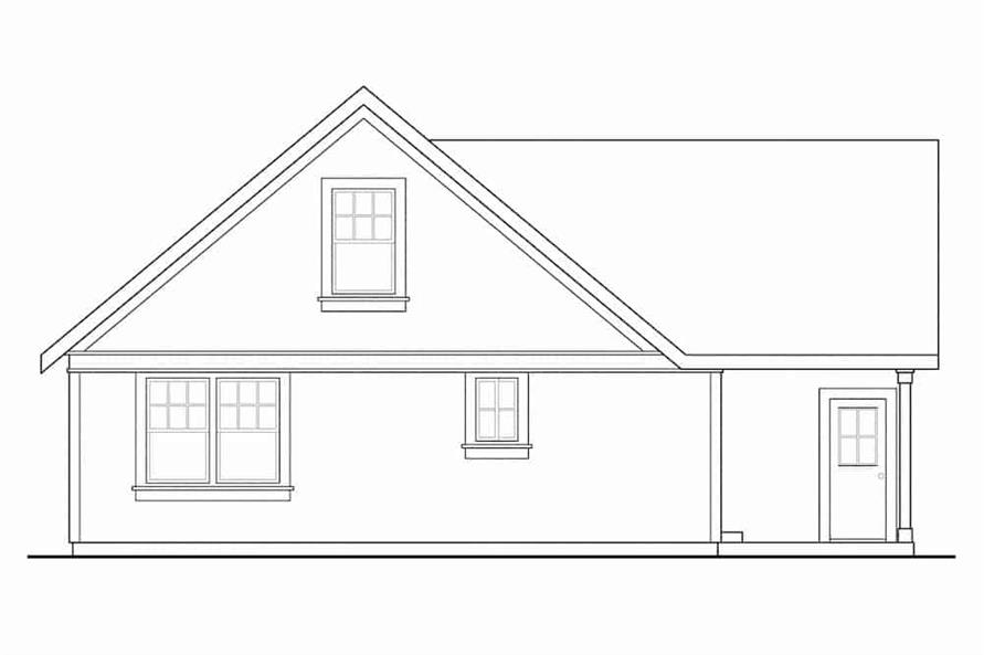 Home Plan Rear Elevation of this 3-Bedroom,1426 Sq Ft Plan -108-1296