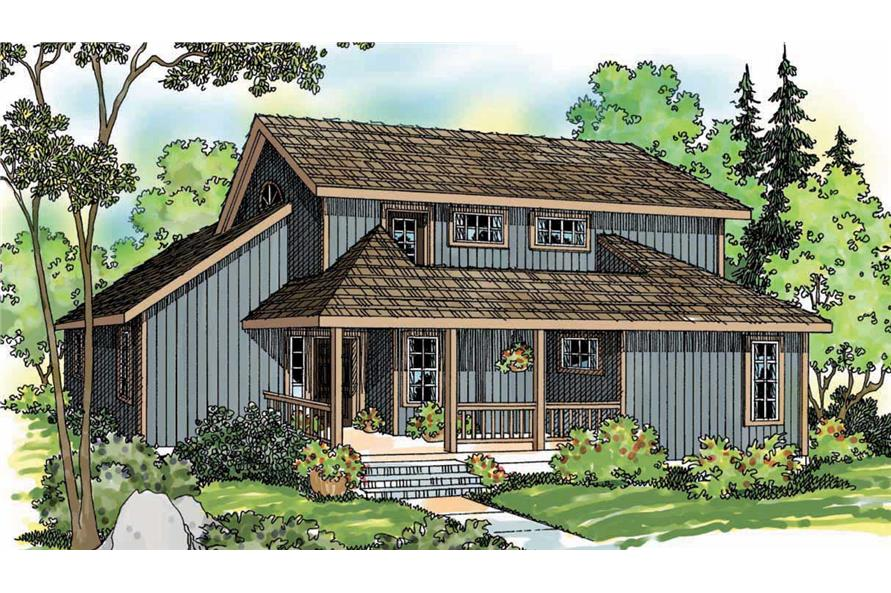 2-Bedroom, 1611 Sq Ft Vacation Homes Home Plan - 108-1297 - Main Exterior