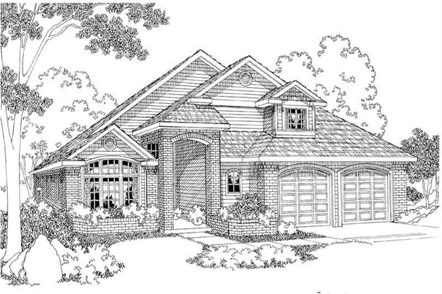 3-Bedroom, 2394 Sq Ft Home Plan - 108-1298 - Main Exterior