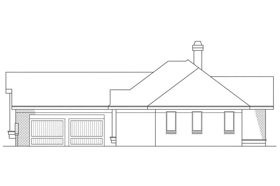 Home Plan Right Elevation of this 3-Bedroom,1729 Sq Ft Plan -108-1300