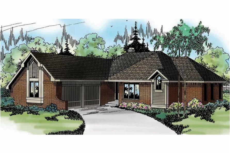3-Bedroom, 1729 Sq Ft Ranch Home - Plan #108-1300 - Main Exterior