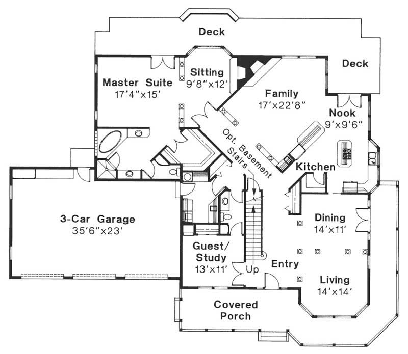 First Floor Floor Plan for Morgan