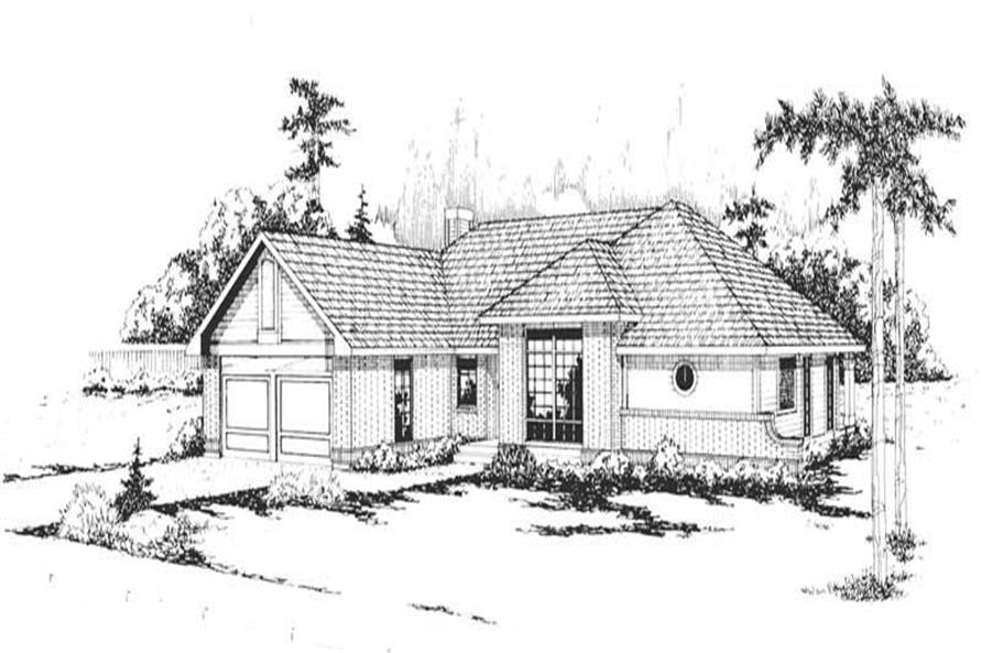 2-Bedroom, 1828 Sq Ft Ranch Home Plan - 108-1302 - Main Exterior