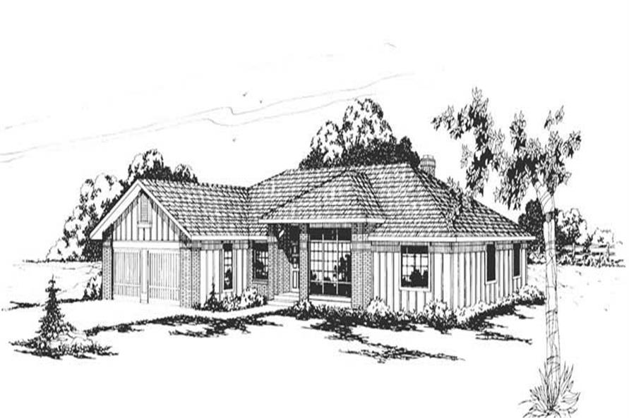 4-Bedroom, 2456 Sq Ft Contemporary Home Plan - 108-1304 - Main Exterior