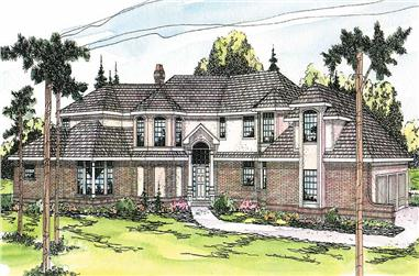 4-Bedroom, 4147 Sq Ft Tudor Home Plan - 108-1305 - Main Exterior