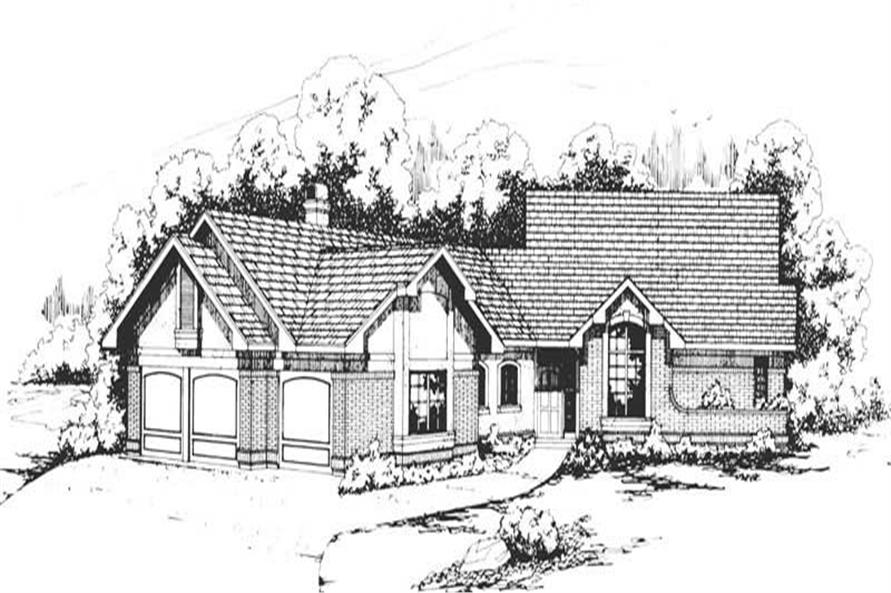 3-Bedroom, 2479 Sq Ft Ranch Home Plan - 108-1308 - Main Exterior