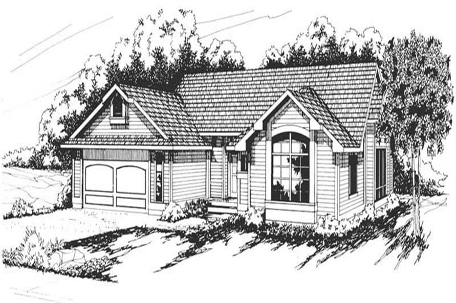 3-Bedroom, 1844 Sq Ft Ranch House Plan - 108-1309 - Front Exterior