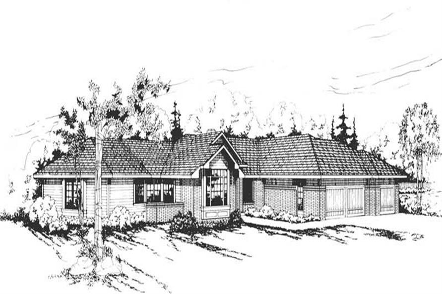 4-Bedroom, 2504 Sq Ft Ranch House Plan - 108-1311 - Front Exterior