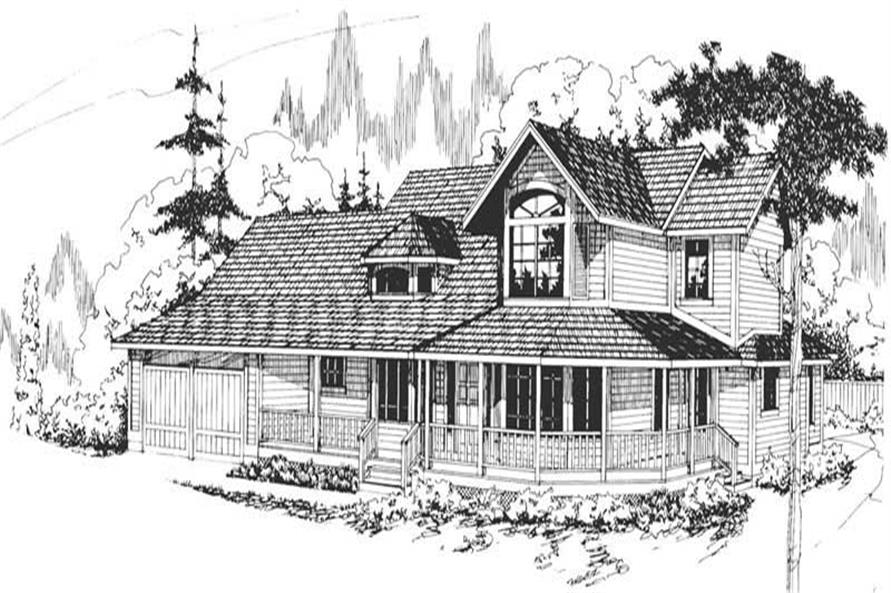 3-Bedroom, 2667 Sq Ft Country House Plan - 108-1314 - Front Exterior