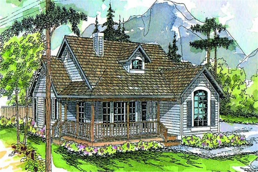 3-Bedroom, 1794 Sq Ft Country House Plan - 108-1315 - Front Exterior