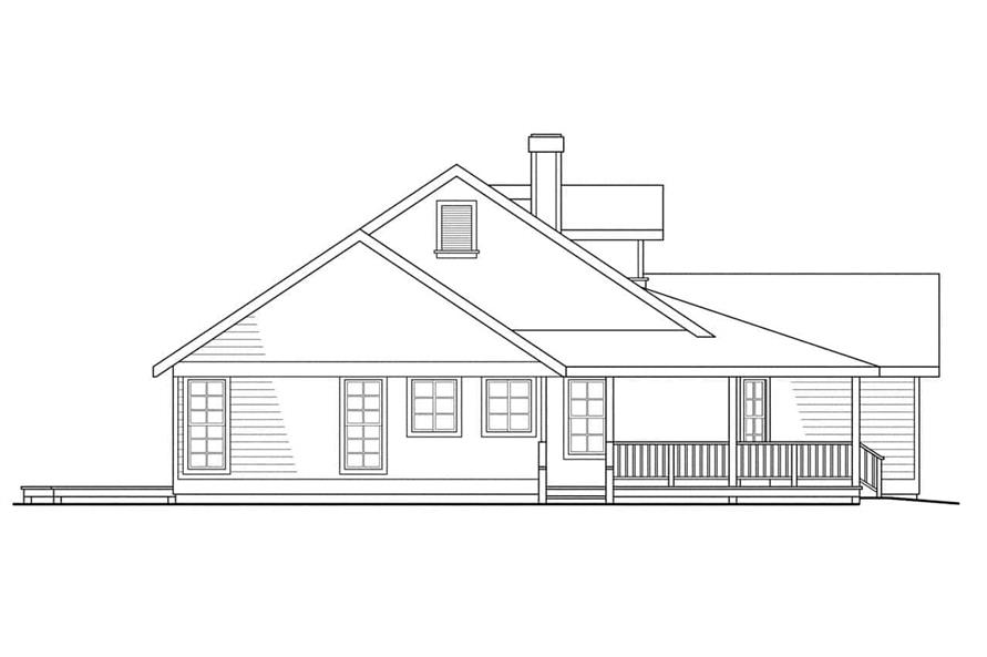 Home Plan Left Elevation of this 3-Bedroom,1794 Sq Ft Plan -108-1315