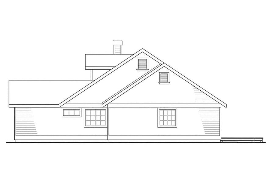 Home Plan Right Elevation of this 3-Bedroom,1794 Sq Ft Plan -108-1315